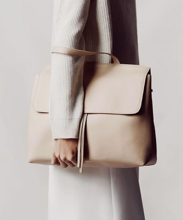 MANSUR GAVRIEL Lady Bag  Mansur Gavriel Camello vegetable-tanned smooth leather Lady bag with detachable flat leather strap.