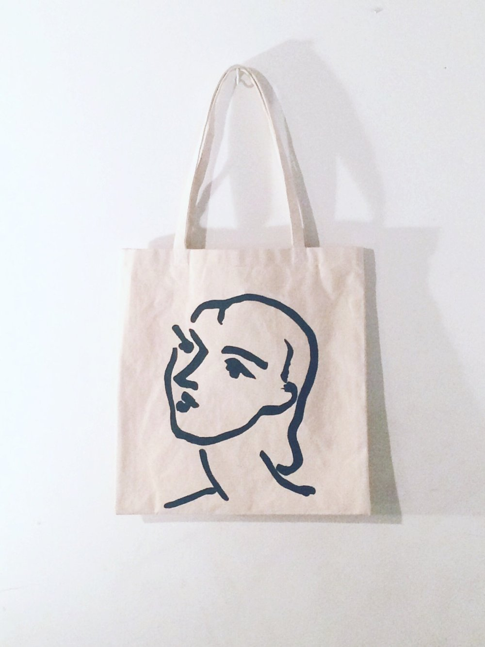 PEUIMPORTE VINTAGE Matisse Tote Bag  Matisse hand painted organic cotton tote bag. Made to order.