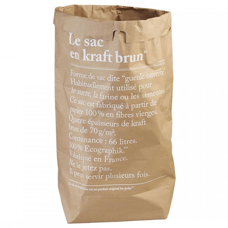 LE SAC EN CRAFT BRUN Papiersack braun