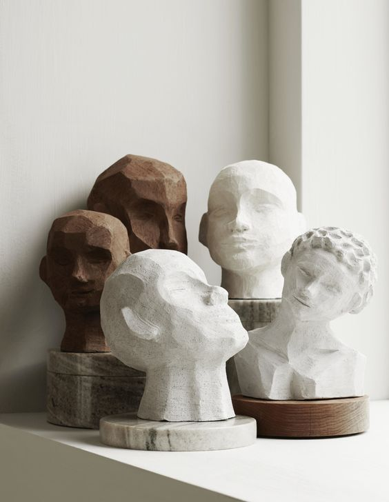 Kristiina  Absolutely smitten with the head sculpture of Finnish artist  Kristiina Haataja . Each bust is hand made and unique. It's a great artifact to add to any shelf or table top and adds an earthy tone to a clean modern space.