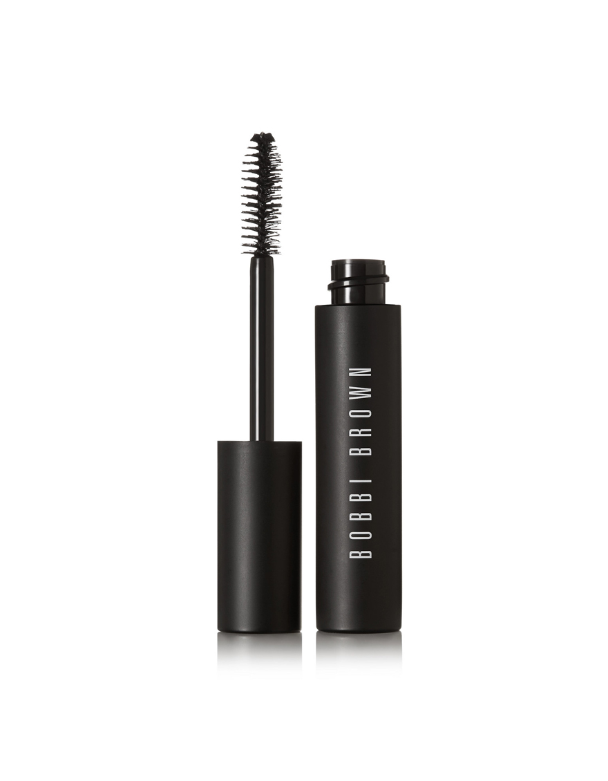 "BOBBI BROWN Eye Opening Mascara  Bobbi Brown's mascara has a specially designed brush that ""pushes lashes up and out"" to create the ultimate wide-eyed effect. The carbon-black formula instantly thickens, curls and lifts, holding its high-impact shape for up to 8 hours."