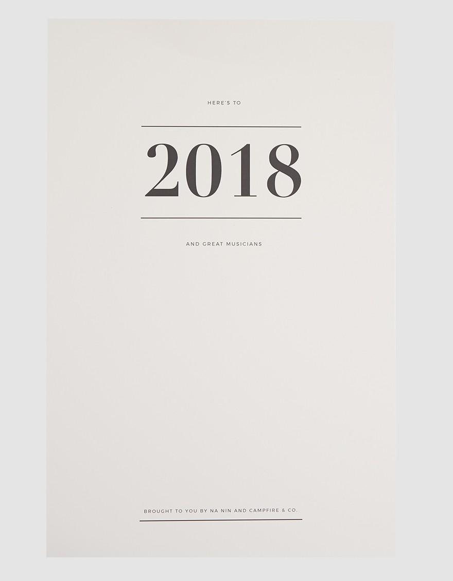Great Musicians Calendar
