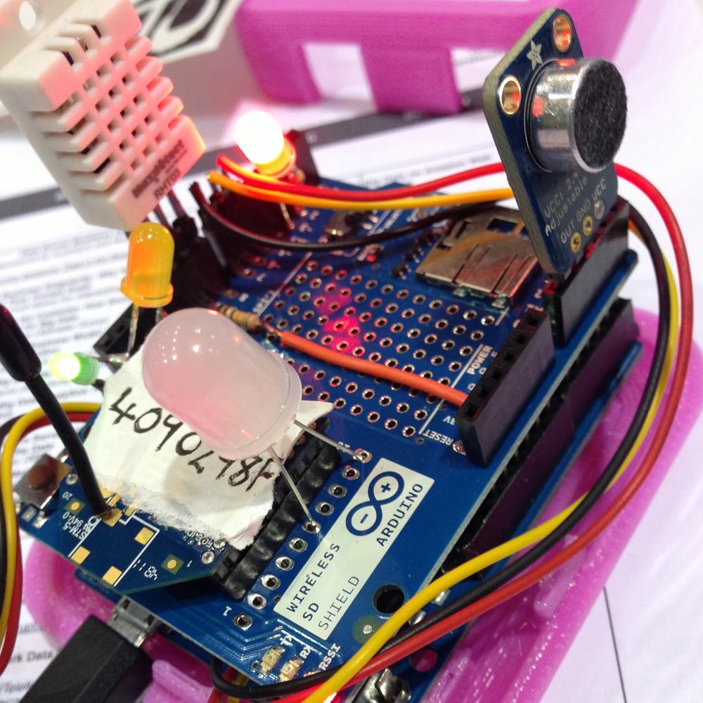 Sensor mote close-up