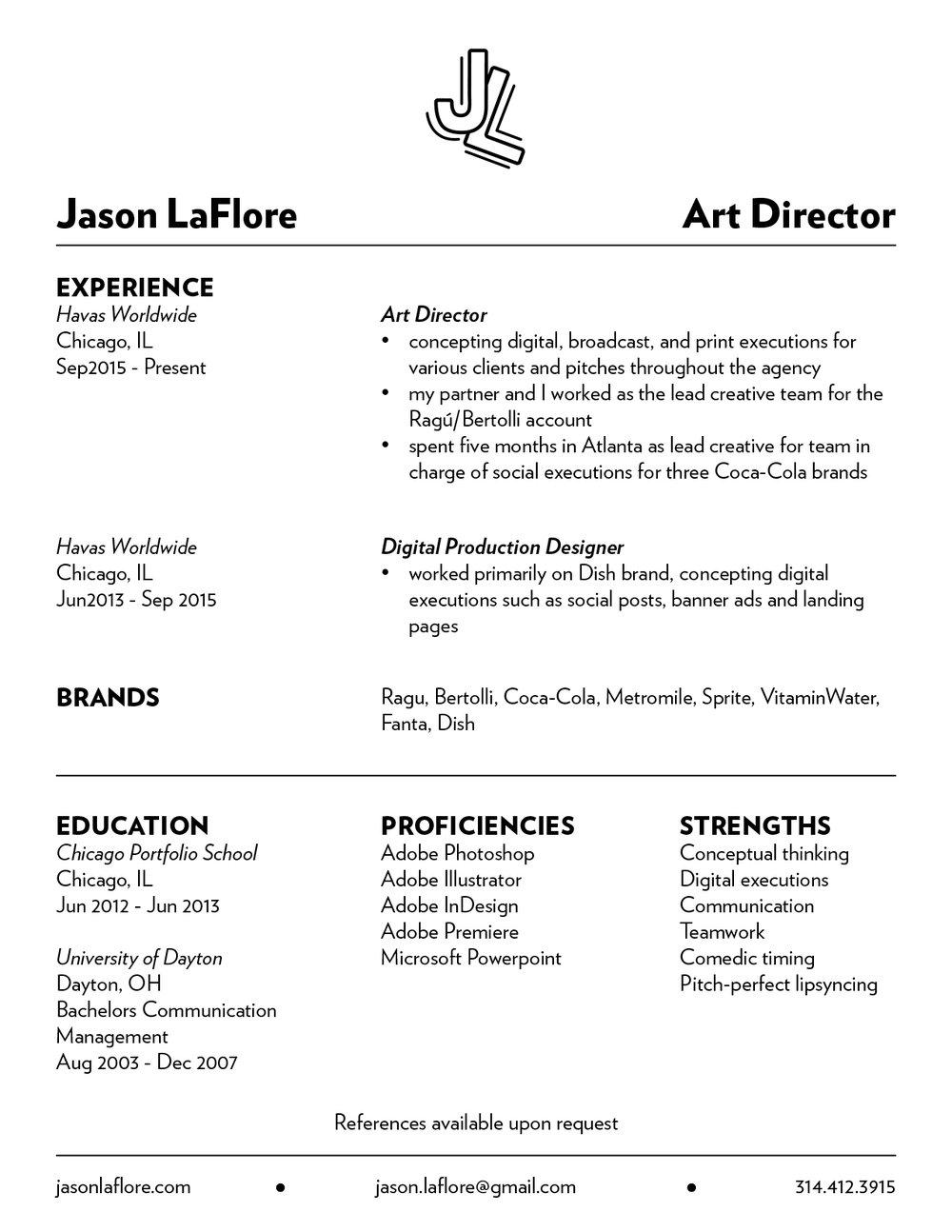 resume jason laflore