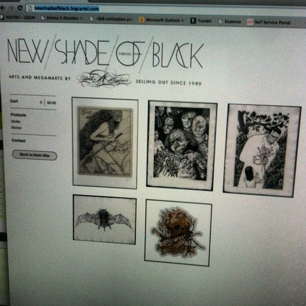 New art prints for sale at the store. Newshadeofblack.bigcartel.com get at 'me