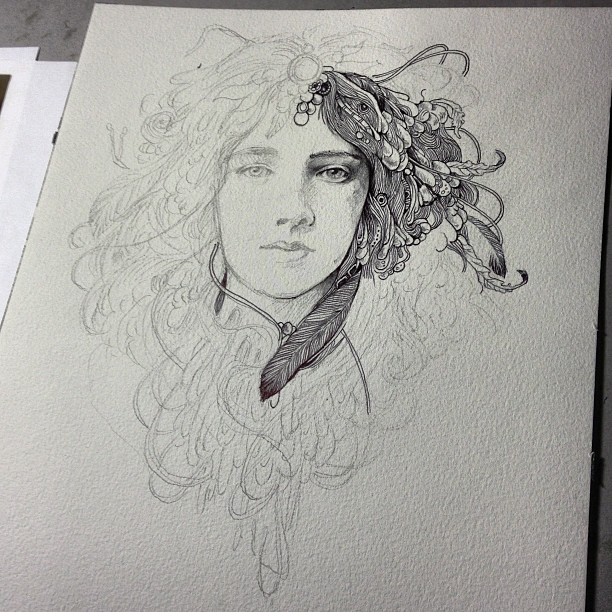 There Will Be Ink. #fridaynightartdork #wip #inkonpaper