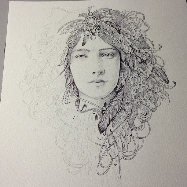 She'd be finished if I had a moment to breathe…. #wip