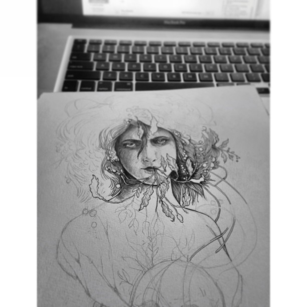 Working in the moments between work. #norestfortheweary #ink #multitasking