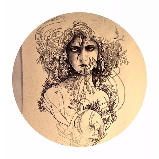 Life interrupts art. Art interrupts life. #wip #inkonpaper
