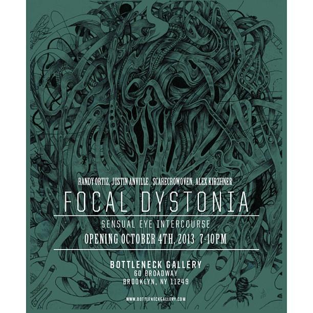 October 4th at Bottleneck Gallery in Brooklyn! Bring your eyeballs! @scarecrowoven @randyortizdtd @anvilleart