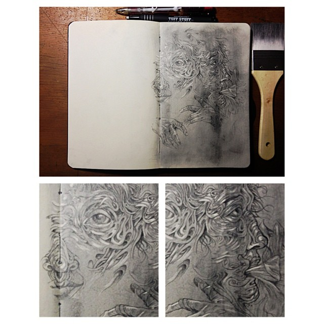 Enough for one day. #themoleskineproject #wip