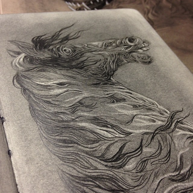 Year of the horse. #graphite #sketchbook