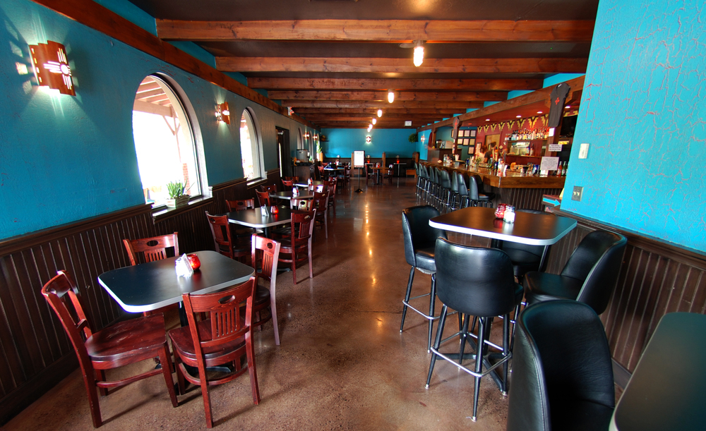 10 seat bar, 56 seats on the front patio, and a dining room with 74 seats that include the full service section.