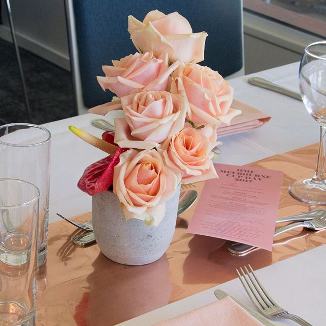 SORBET ROSES // centrepiece details for OMF #melbournecupday // #tablescape #centrepiecedesign #sorbetroses #redattheraces #paintthetownred #reimaginingevents #racinghospitality #eventdesign #aucklandevents #eventstylists #eventstyling