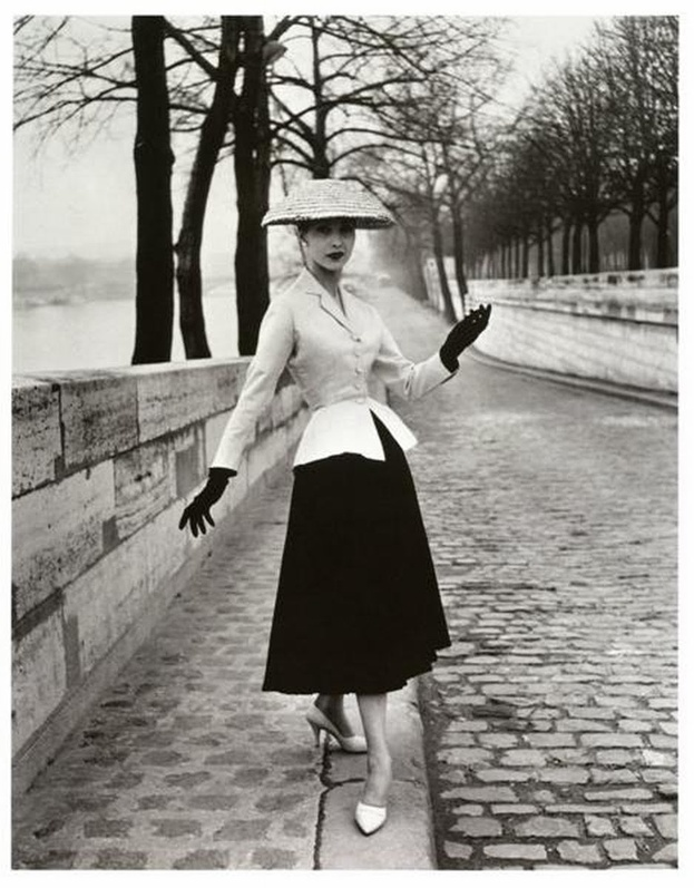 "Christian Dior's iconic image as a part of ""The New Look"" campaign."