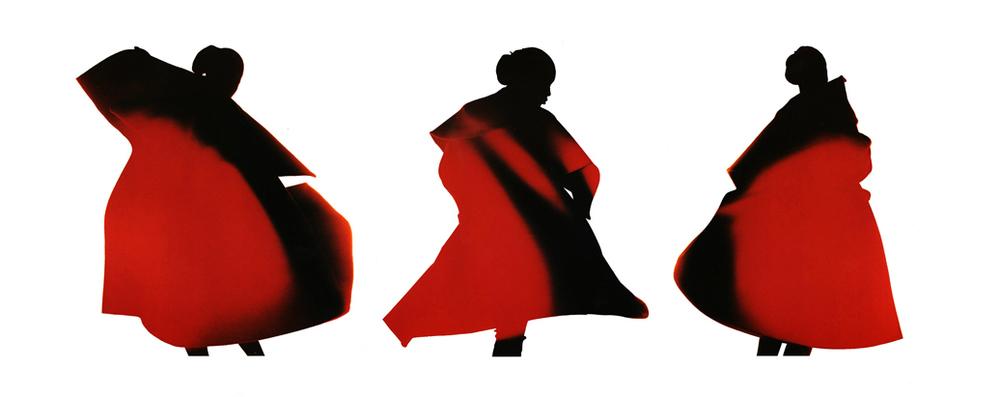 Yohji Yamamoto Red Coat, Naomi Campbell, 1986
