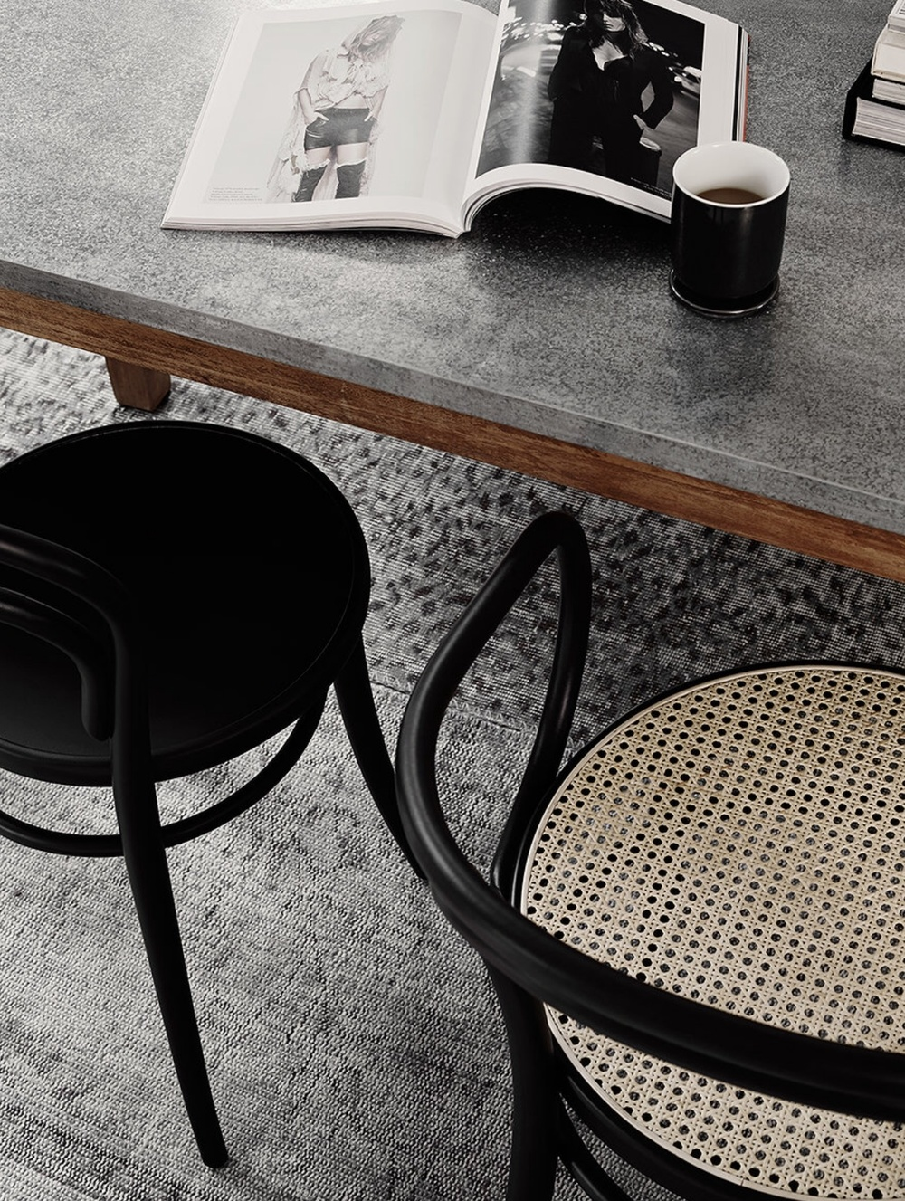 RUM21 dining chair and the perfect coffee break