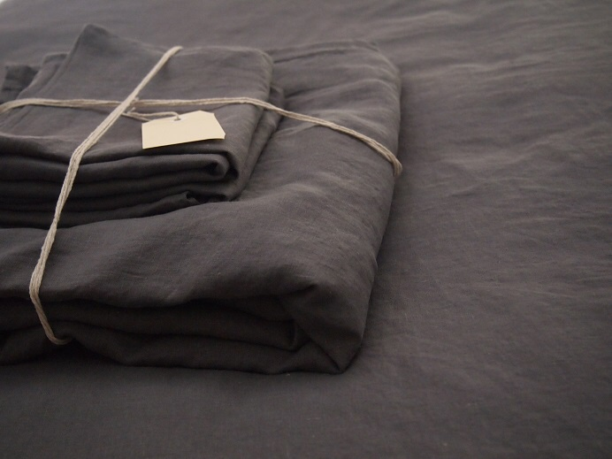 Charcoal bed linen
