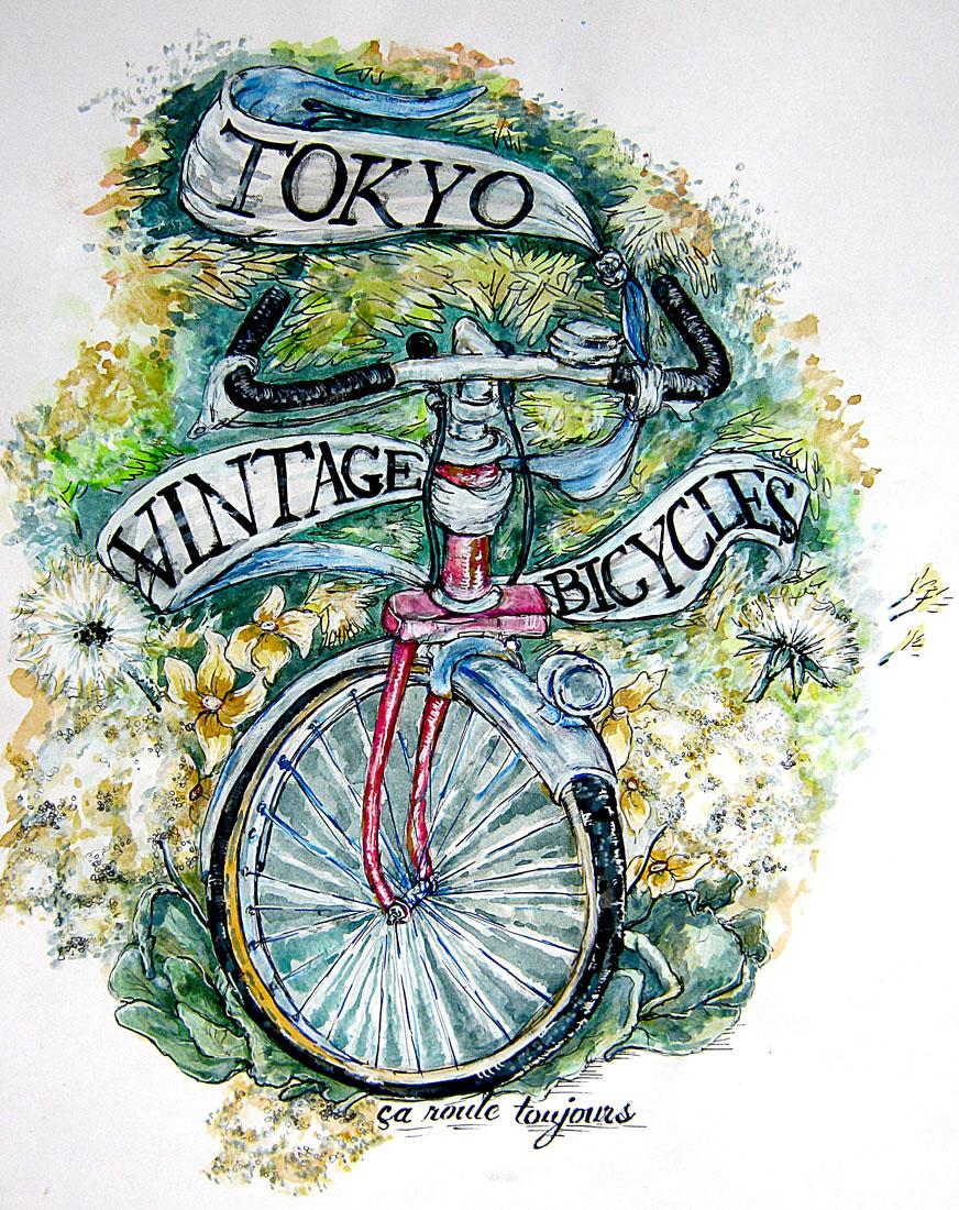 """Le Japon, l'autre pays du vélo """"A la française""""…    bicyclestore :      anwilby  for  Tokyo Vintage Bicycles"""