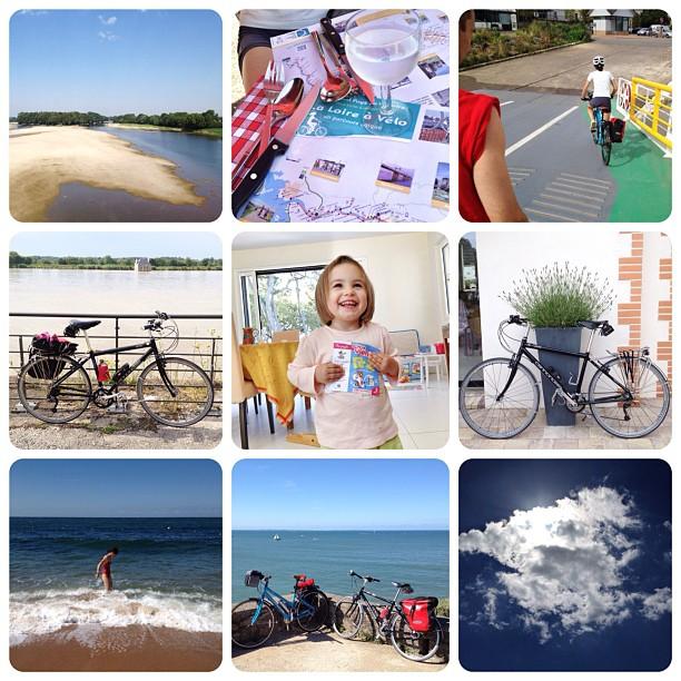 De l'Anjou à l'Atlantique à vélo. Enfantin comme un sourire. (Pris avec  Instagram  à Anjou, Atlantique, Estuaire, Loire, Pornic)