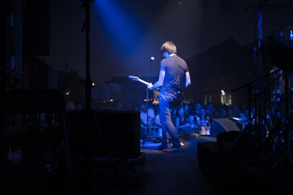 """Archimède à FestiBosse, le festival de Beaufort-en-Vallée en Anjou, samedi 21 septembre pour la dernière date de la tournée """"Trafalgar""""."""