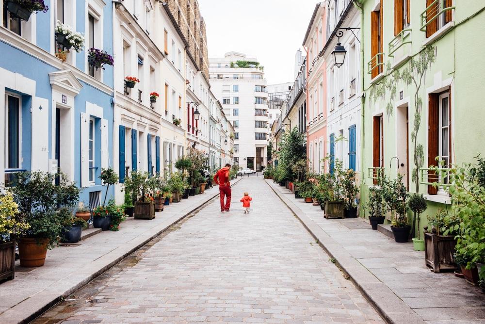 La rue Crémieux à Paris