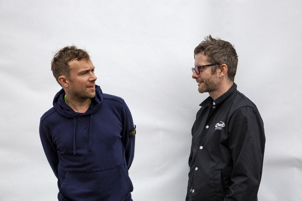 Damon Albarn et Jamie Hewlett ont crée Gorillaz il y a vingt ans déjà. Photo Dhillon SHUKLA
