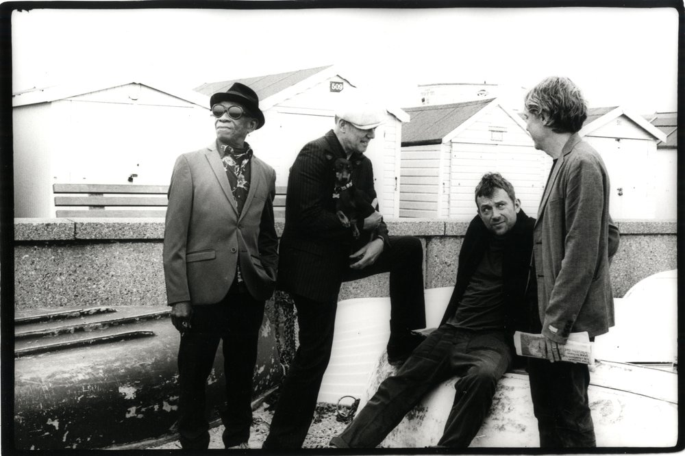 Tony Allen, Damon Albarn, Simon Tong et Paul Simonon. Photo Pennie SMITH