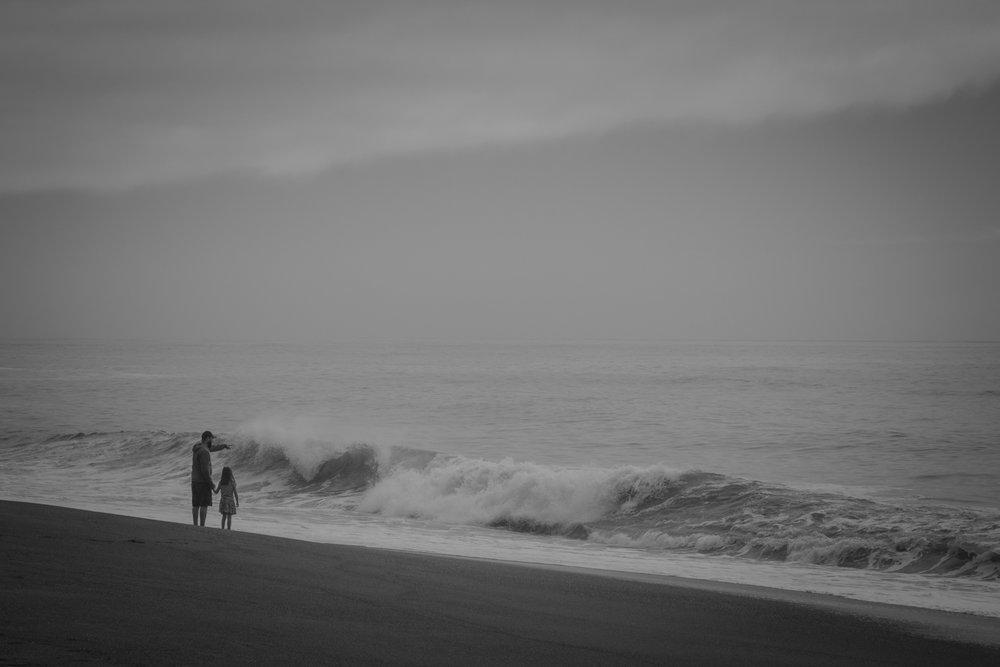 Windy beach north of Patricks Point.