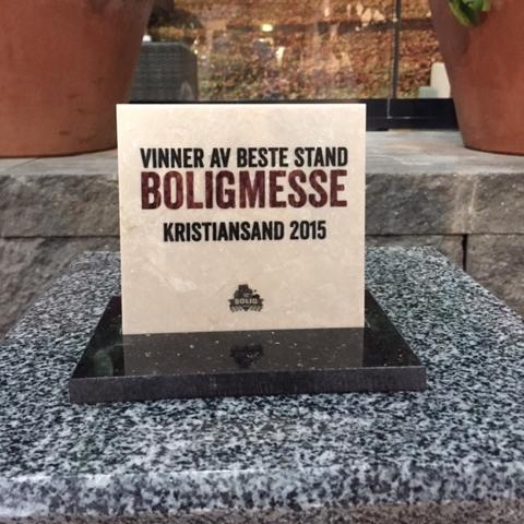 Vågen & Hansen Utemiljø AS Beste Stand Boligmessa 2015 pris