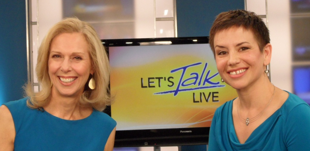 with Let's Talk Live host, Melanie Hastings, after she interviewed Halelly on the 3 Keys for Communication Success