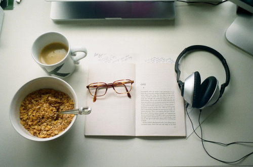 headphones coffee cereal book by Kevin_Morris via Flickr Creative Commons.jpg