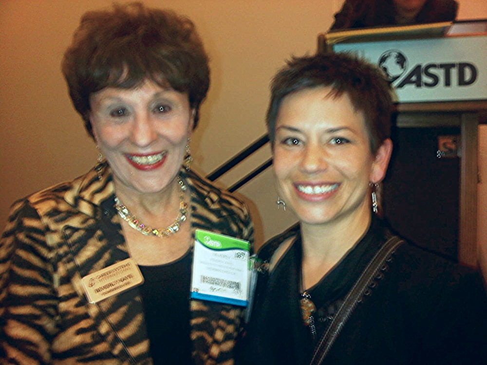 I got together with Dr. Beverly Kaye at the ASTD (now ATD) International Conference & Expo where we were both speakers. The shot is a bit Blurry but so worth it!