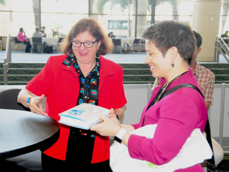 Halelly was one of the first to get an autographed copy of Ann Herrmann-Nehdi's new book at the ATD International Conference and Expo in Orlando in May 2015!