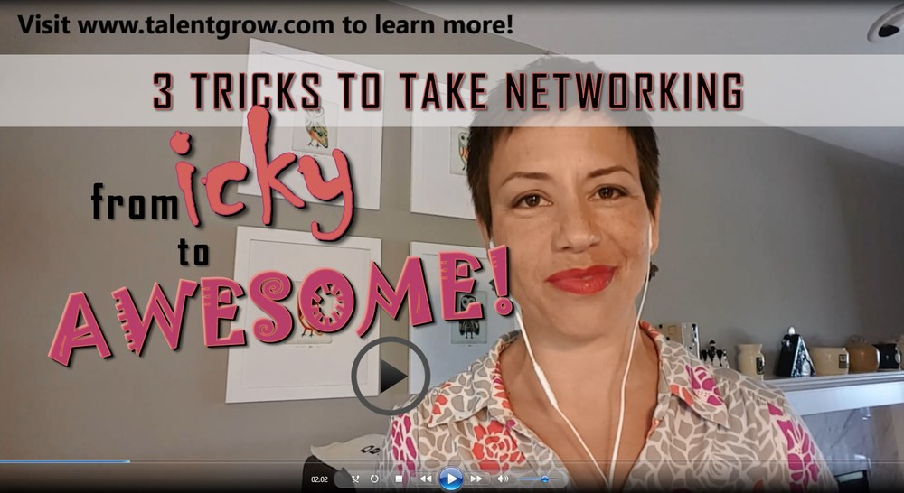 Video on 3 tricks to take networking from icky to aweseome by Halelly Azulay