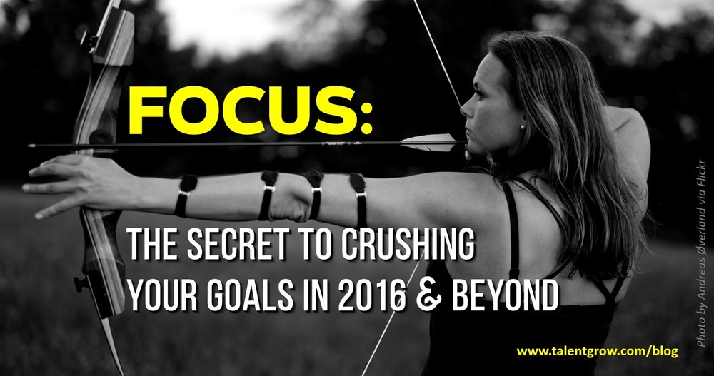 TalentGrow blog Focus the secret to crushing your goals in 2016 and beyond