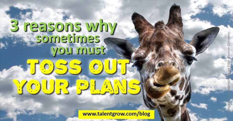 TalentGrow blog 3 reasons why sometimes you must toss out your plans by Halelly Azulay