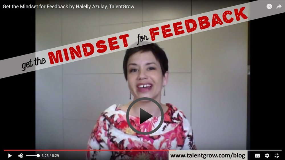 Halelly Azulay TalentGrow get the mindset for feedback vlog