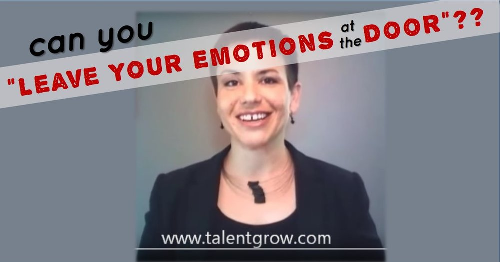 Halelly Azulay TalentGrow vlog can you leave your emotions at the door