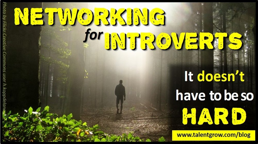 Networking for introverts it doesnt have to be so hard blog post by Halelly Azulay TalentGrow
