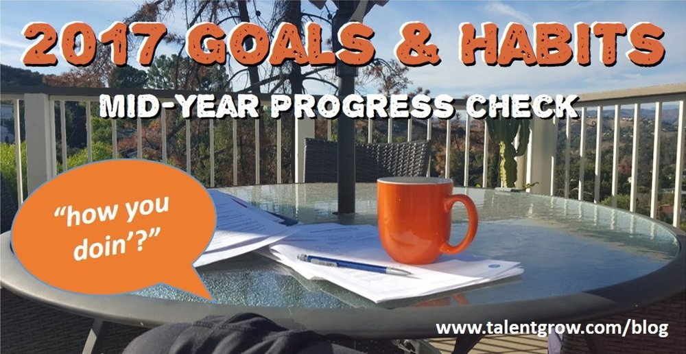 2017 Goals and Habits mid year progress check Halelly Azulay TalentGrow blog