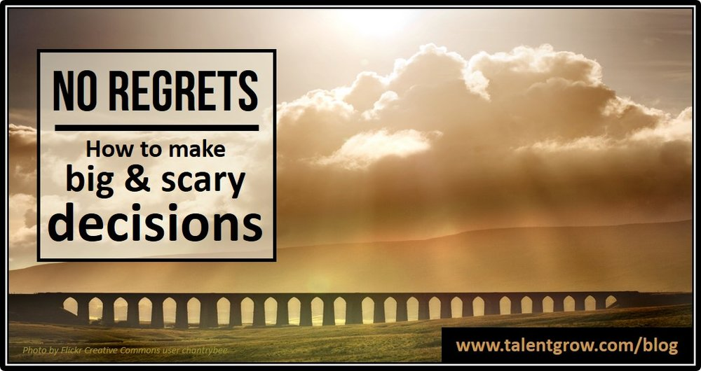 No regrets how to make big and scary decisions TalentGrow blog by Halelly Azulay