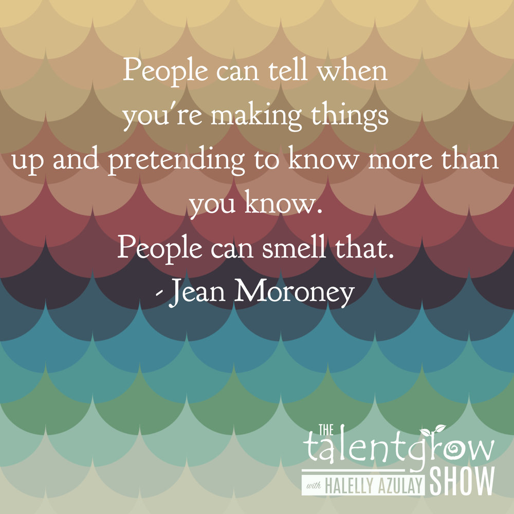 Thinking tactics from Jean Moroney on the TalentGrow Show with Halelly Azulay