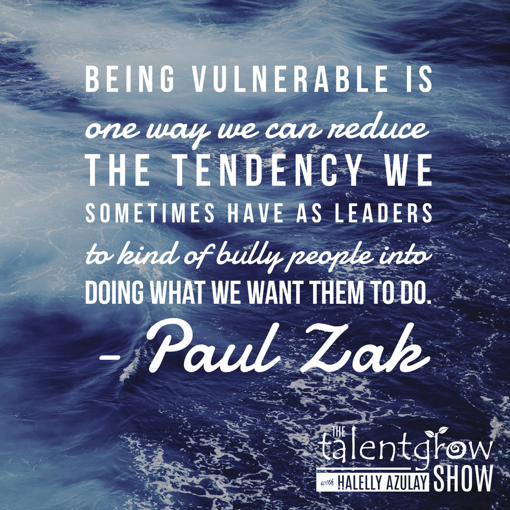Trust-building tips from Dr. Paul Zak on the TalentGrow Show podcast with Halelly Azulay