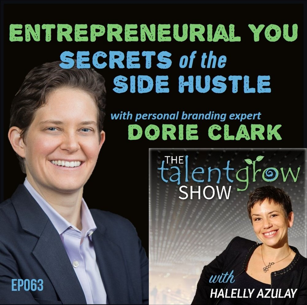 ep063 Entrepreneurial You secrets of the side hustle with personal branding expert Dorie Clark TalentGrow Show sq.jpg