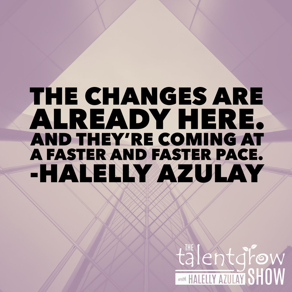 Cycle of disruption insights from episode 64 of the TalentGrow Show podcast with Halelly Azulay and guest Frode Odegard