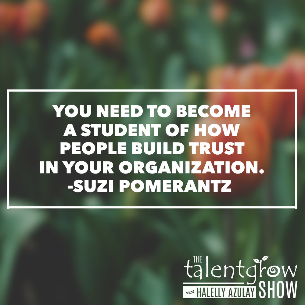 Strategic career relationship tips from Master Executive Coach Suzi Pomerantz on the TalentGrow Show podcast with Halelly Azulay
