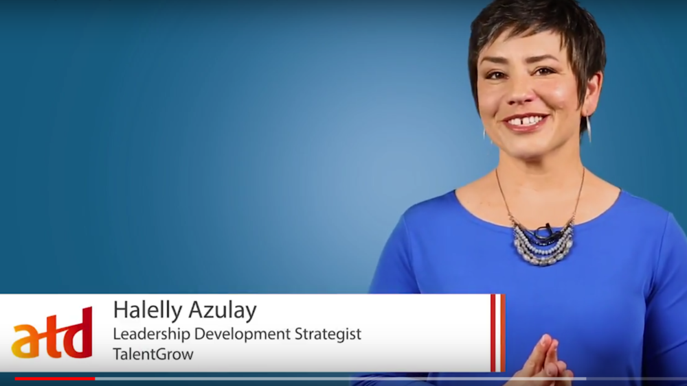 Halelly Azulay TalentGrow ATD video on the most powerful question all facilitators must ask