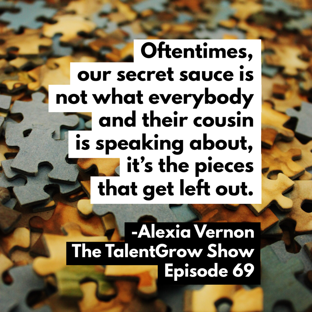 "Ep069: Why all leaders should be speakers and how to find your ""secret sauce"" topic with Alexia Vernon"