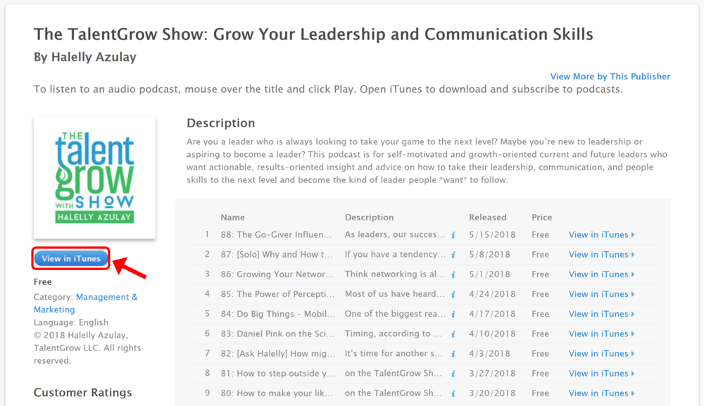 The TalentGrow Show Apple Podcasts / iTunes Preview
